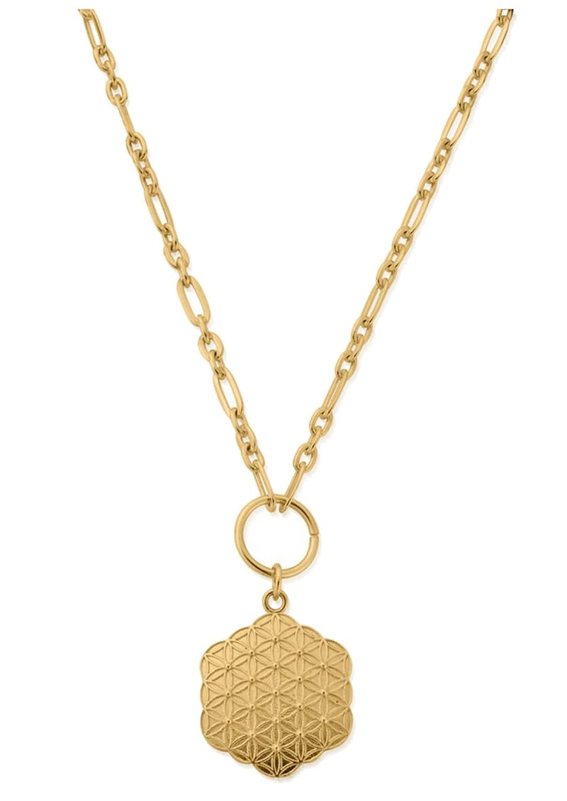 ChloBo Sacred Earth Flower of Life Necklace - Gold main image