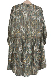 BERENICE Raja Printed Dress - Khaki