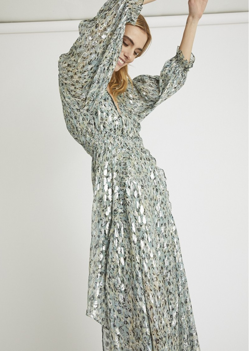 BERENICE Rayane Silk Printed Long Dress - Seven Miles main image