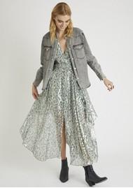 BERENICE Rayane Silk Printed Long Dress - Seven Miles