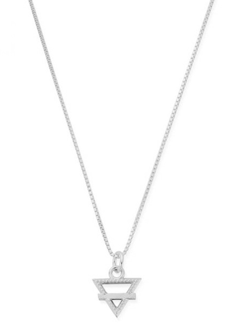 ChloBo Box Chain Earth Necklace - Silver main image