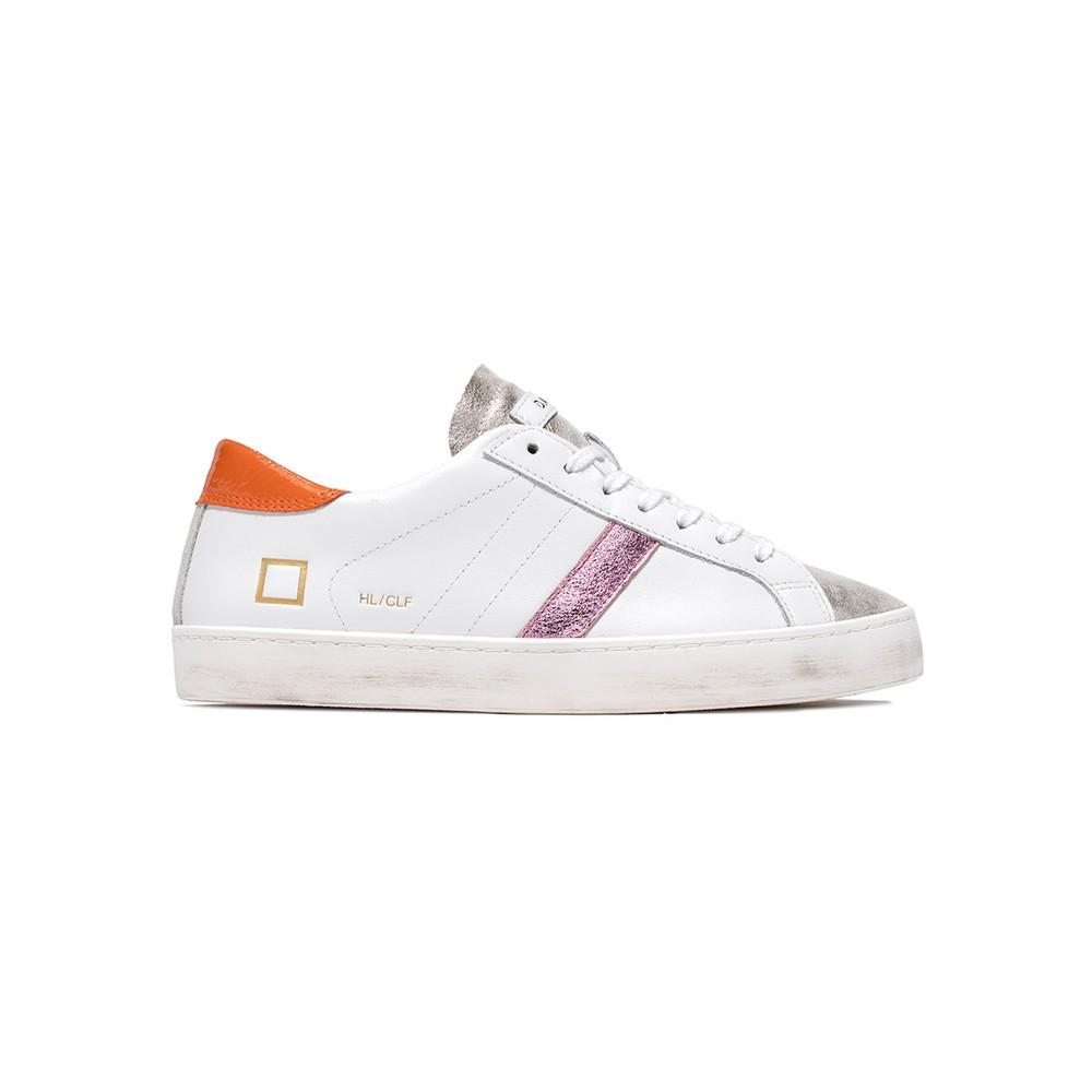 Hill Low Trainers - White & Orange