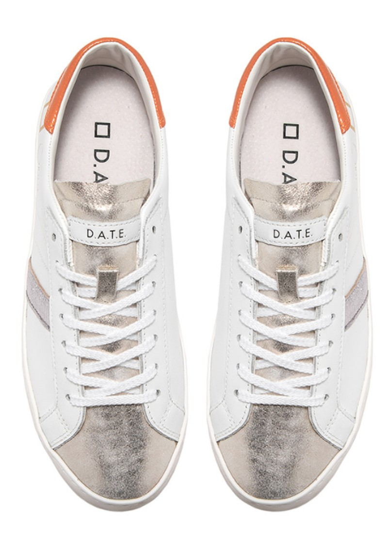 D.A.T.E Hill Low Trainers - White & Orange main image