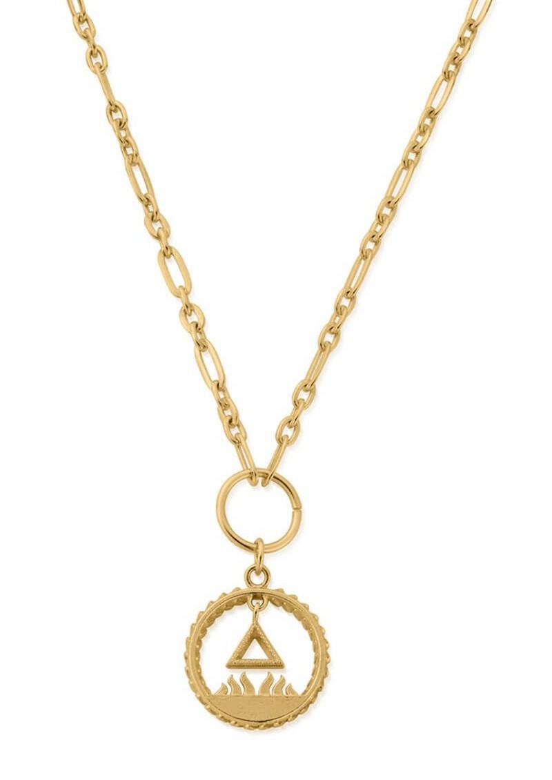 ChloBo Sacred Fire Pendant Necklace - Gold main image