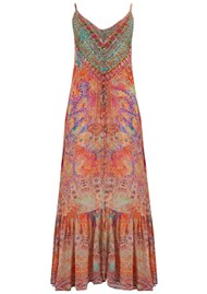 INOA Frill Strap Silk Maxi Dress - Modena