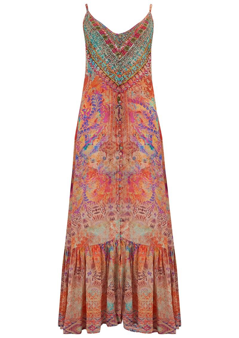 INOA Frill Strap Silk Maxi Dress - Modena main image