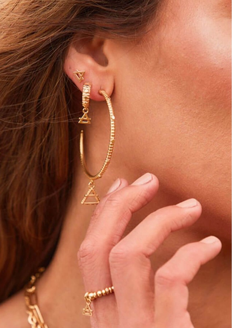 ChloBo Sacred Earth Large Air Hoop Earrings - Gold main image