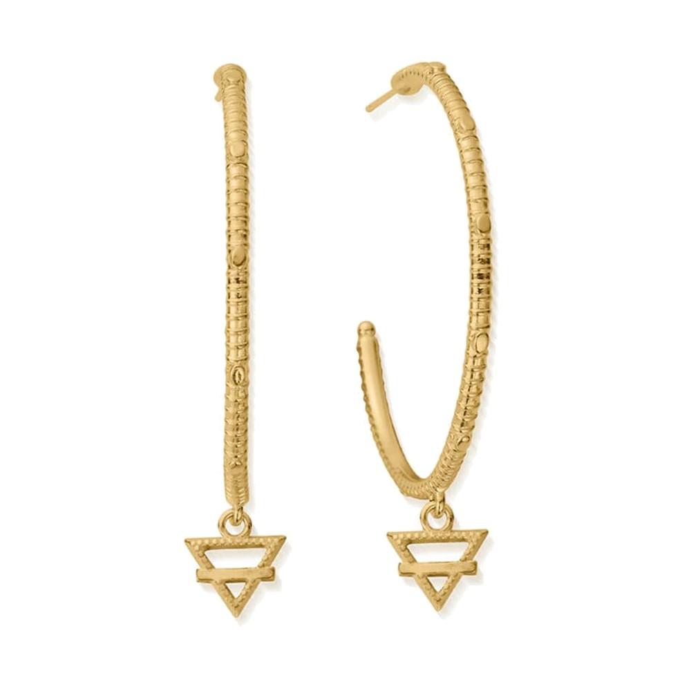Sacred Earth Large Earth Hoop Earrings - Gold