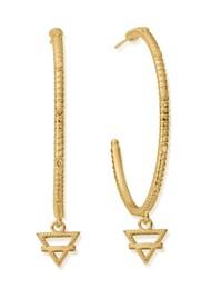 ChloBo Sacred Earth Large Earth Hoop Earrings - Gold