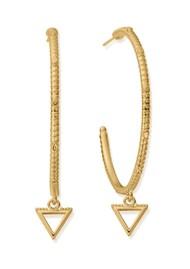 ChloBo Sacred Earth Large Water Hoop Earrings - Gold