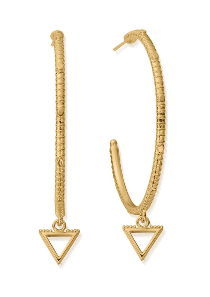 ChloBo Sacred Earth Large Water Hoop Earrings - Gold main image