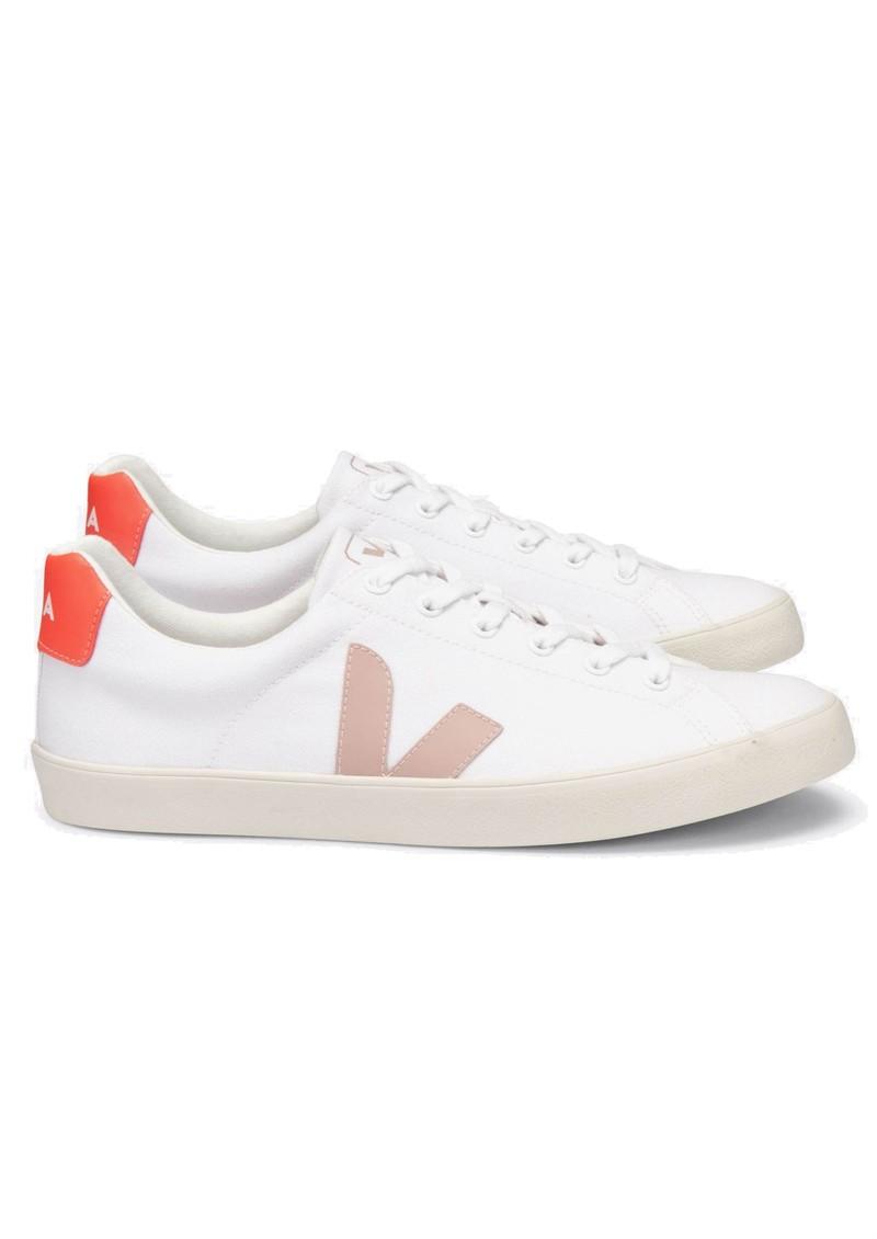 VEJA Esplar Se Canvas Trainers - White, Babe & Orange main image