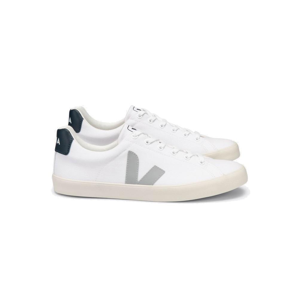 Esplar Se Canvas Trainers - White, Oxford Grey & Nautico