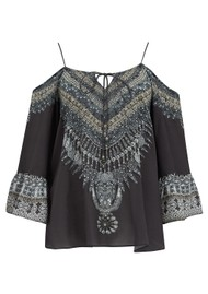 INOA Gypsy Crystal Silk Top - Casablanca