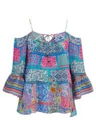 INOA Gypsy Crystal Silk Top - Martinique