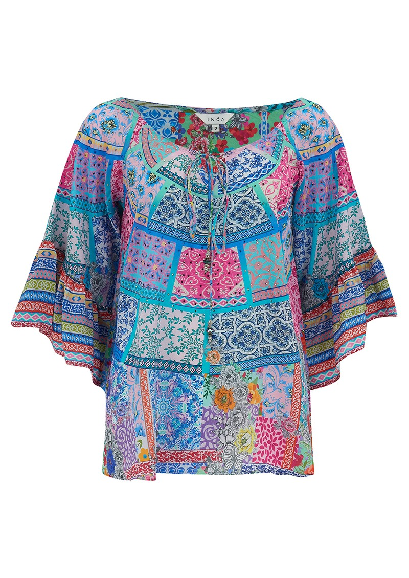 INOA Boho Silk Top - Martinique main image