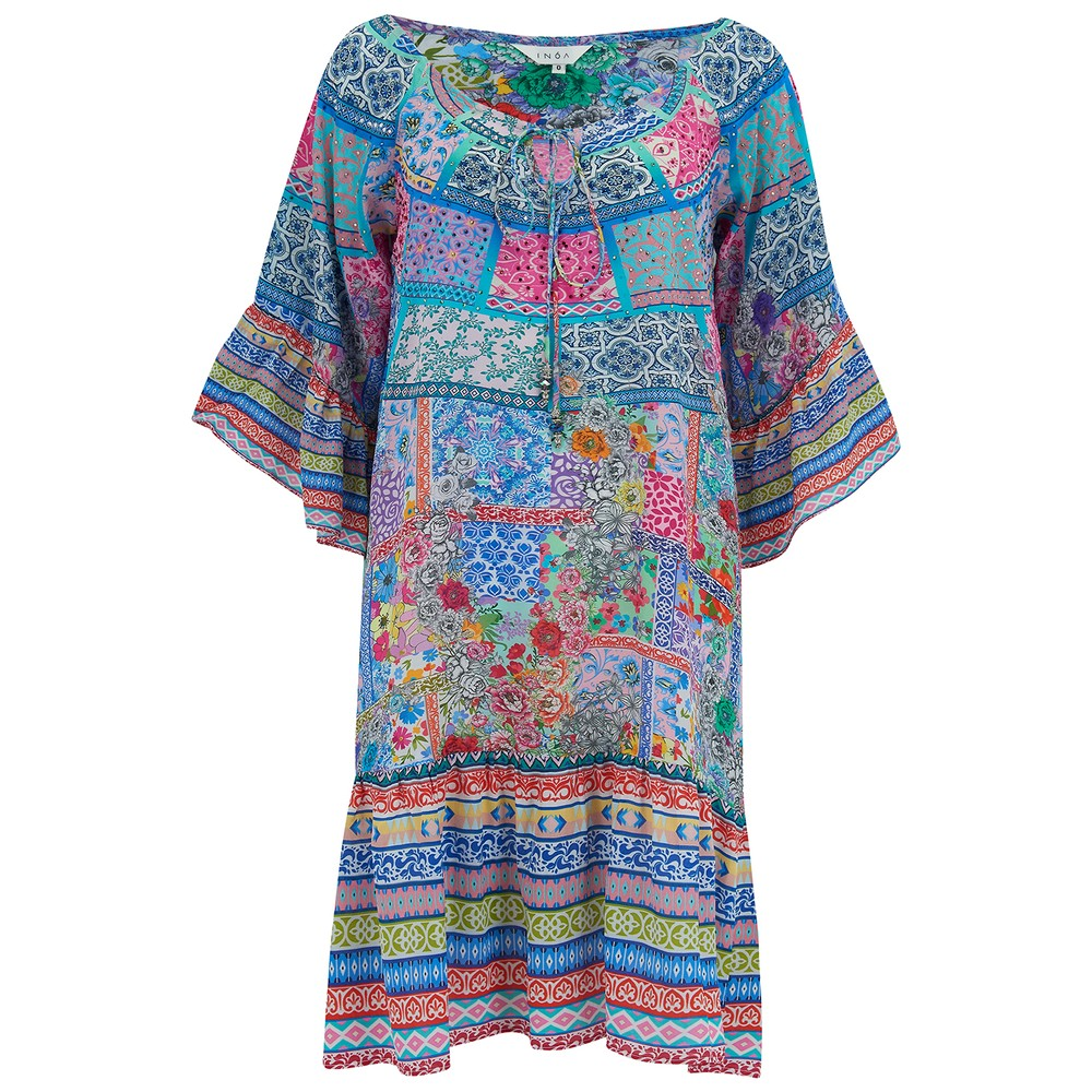Gypsy Crystal Silk Dress - Martinique
