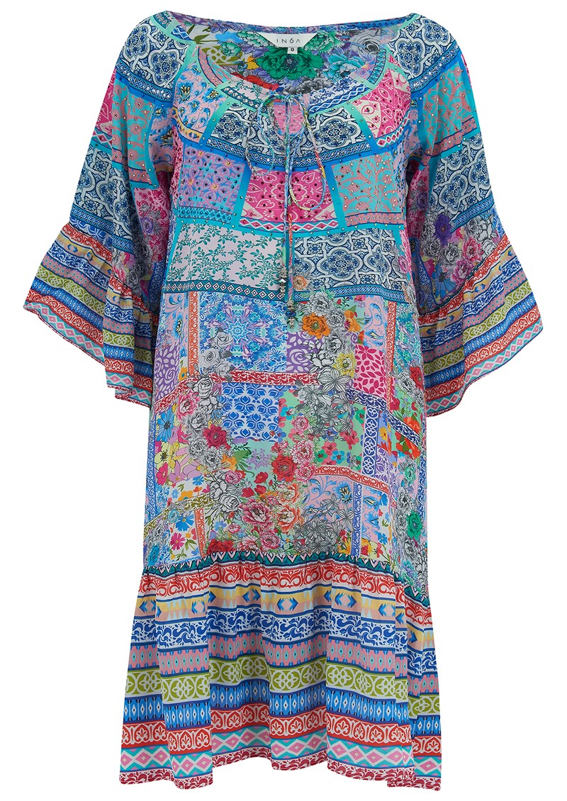 INOA Gypsy Crystal Silk Dress - Martinique main image