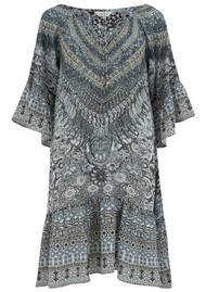 INOA Gypsy Crystal Silk Dress - Casablanca
