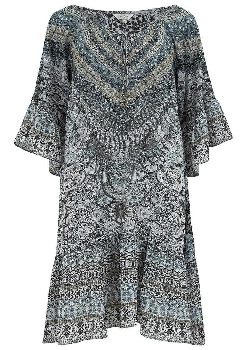 INOA Gypsy Crystal Silk Dress - Casablanca main image