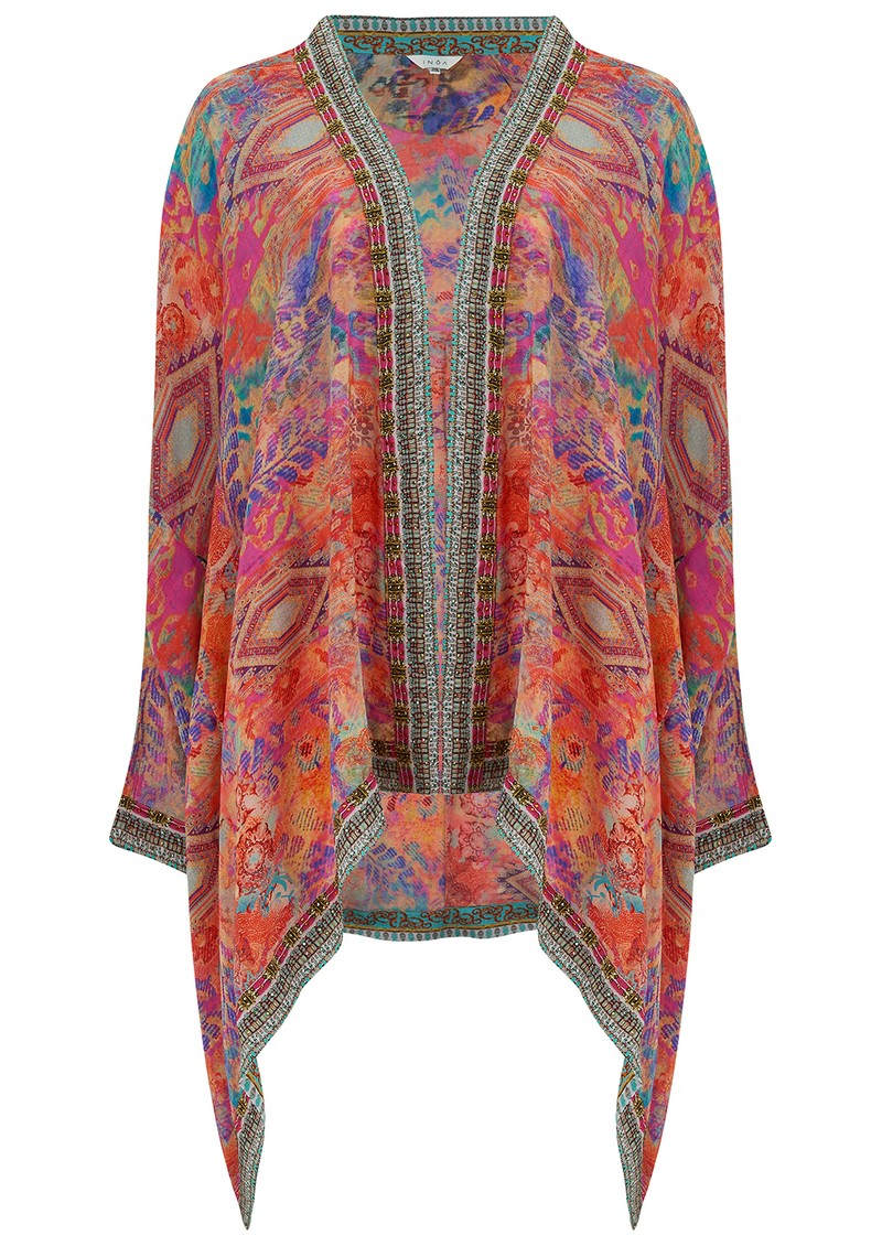 Short Silk Printed Shrug - Modena main image