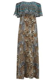 INOA Frill Neck Silk Dress - Savannah