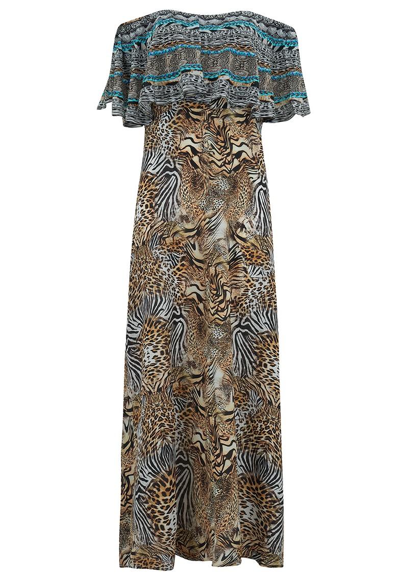 INOA Frill Neck Silk Dress - Savannah main image