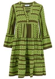 DEVOTION Ella Midi Dress - Khaki & Lime