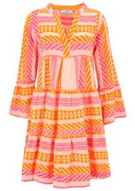 DEVOTION Ella Short Cotton Dress - Neon Pink & Orange