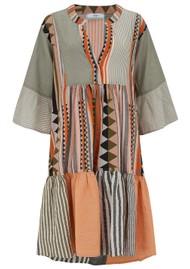 DEVOTION Zakar Long Embroidered Dress - Khaki
