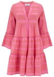 DEVOTION Ella Short Cotton Dress - Salmon Pink