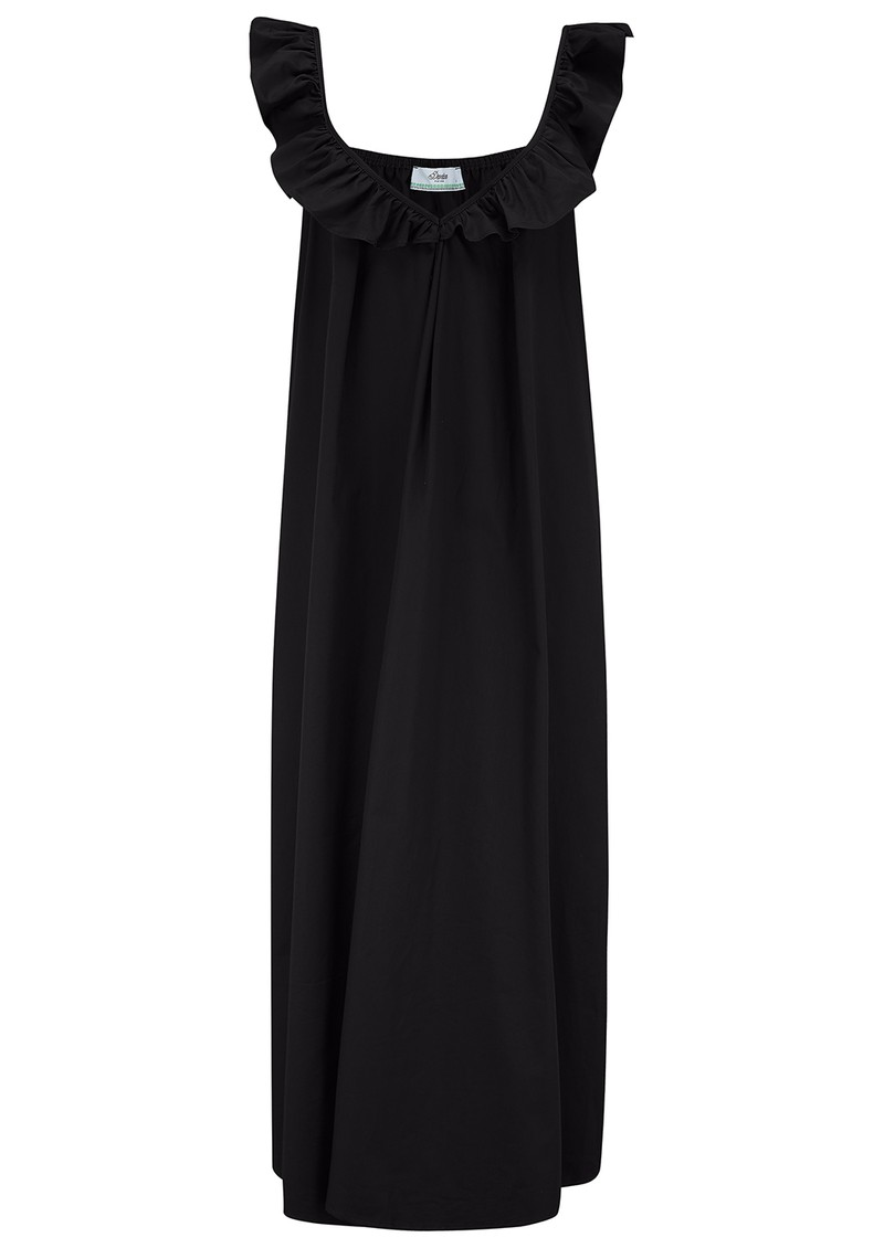 DEVOTION Midi Cotton Dress - Black main image