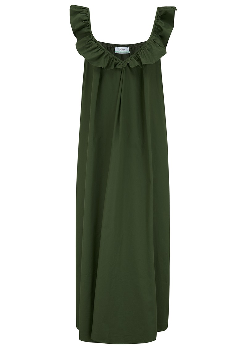DEVOTION Midi Cotton Dress - Olive main image