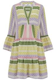 DEVOTION Ella Short Tri Colour Cotton Dress - Lilac