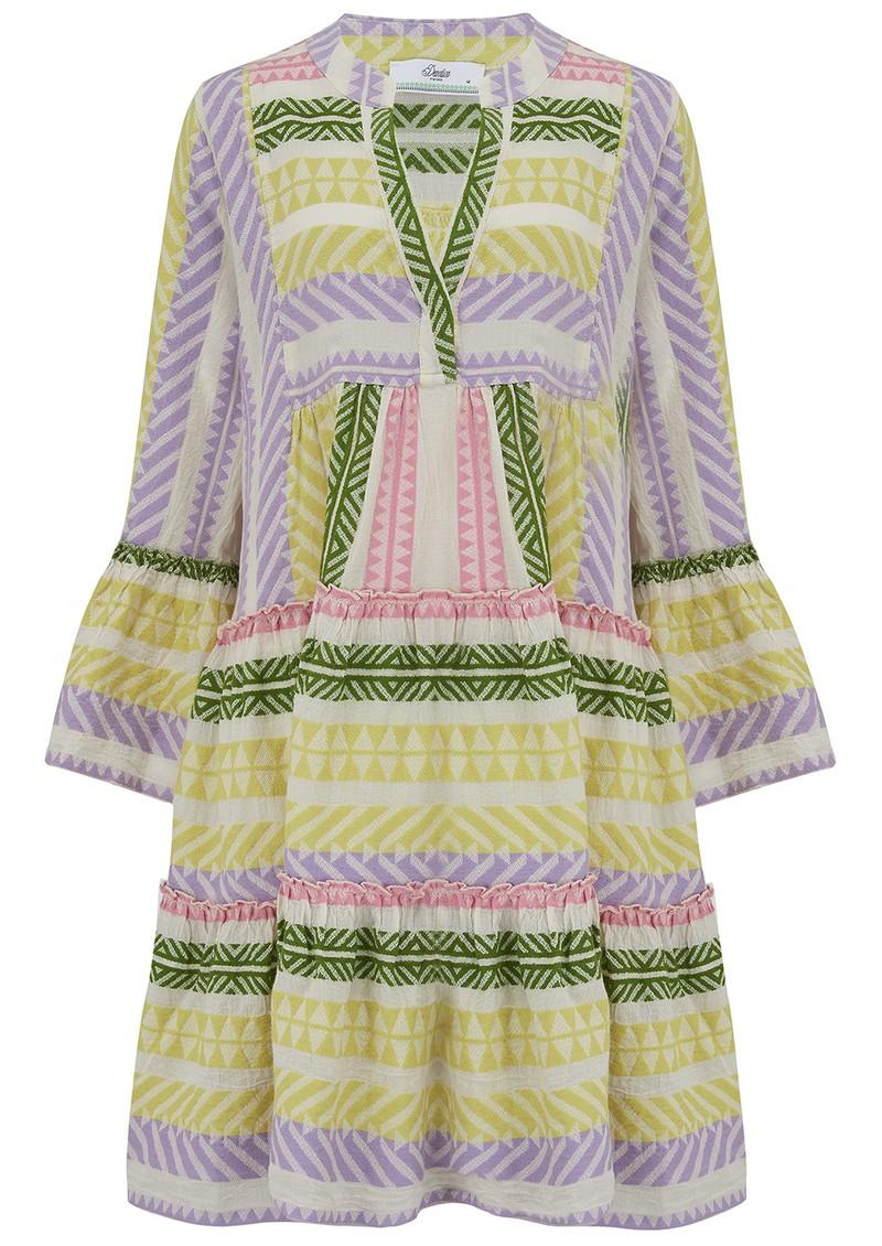 DEVOTION Ella Short Tri Colour Cotton Dress - Lilac main image