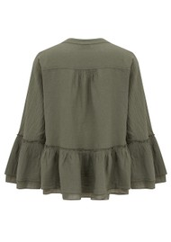 DEVOTION Armonia Cotton Blouse - Khaki