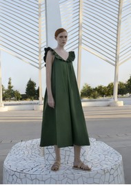 DEVOTION Midi Cotton Dress - Black