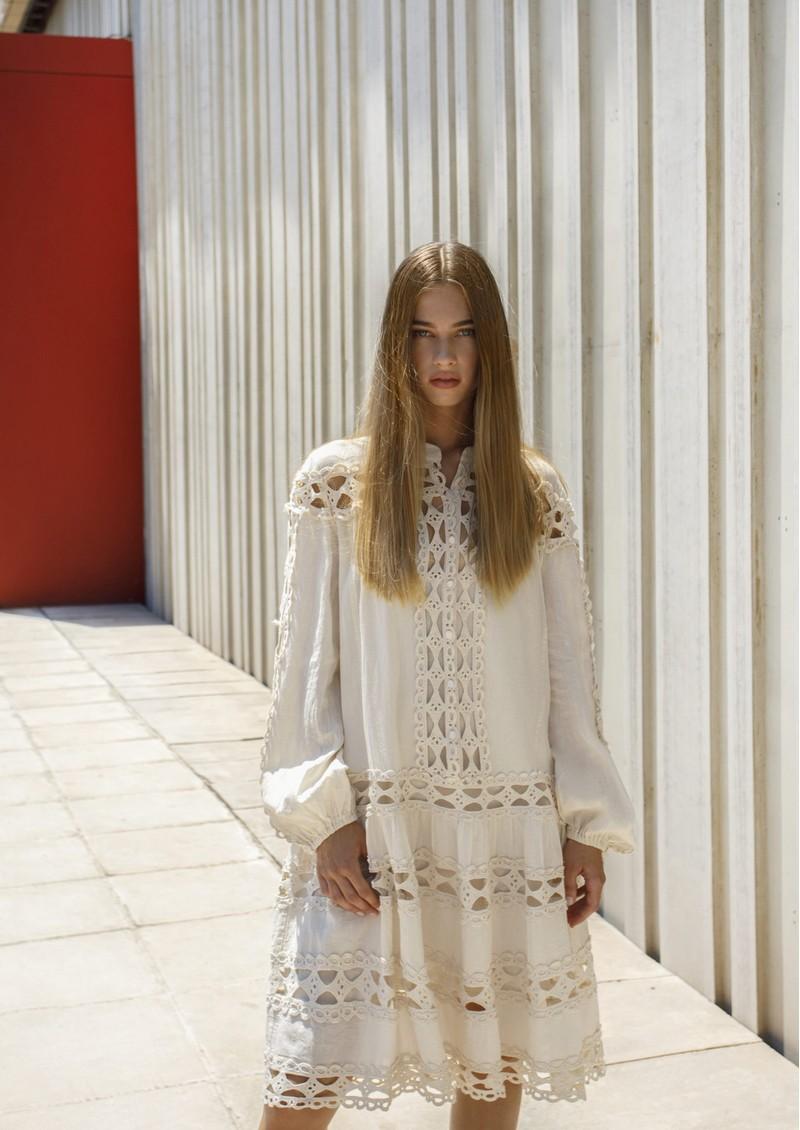 DEVOTION Smock Cotton Dress - Natural main image
