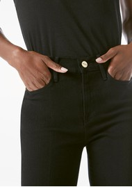 Frame Denim Le High Straight Jeans - Film Noir