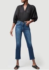 Frame Denim Le High Straight Jeans - Bestia