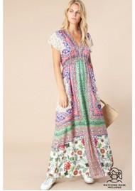 Hale Bob Katrine Maxi Dress - Coral