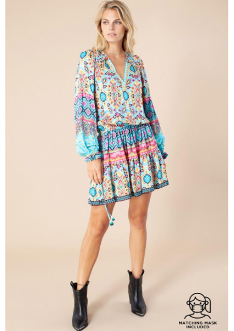 Hale Bob Oona Dress - Turquoise main image