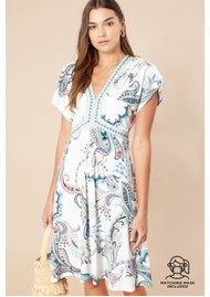 Hale Bob Barbara Jersey Dress - Ivory