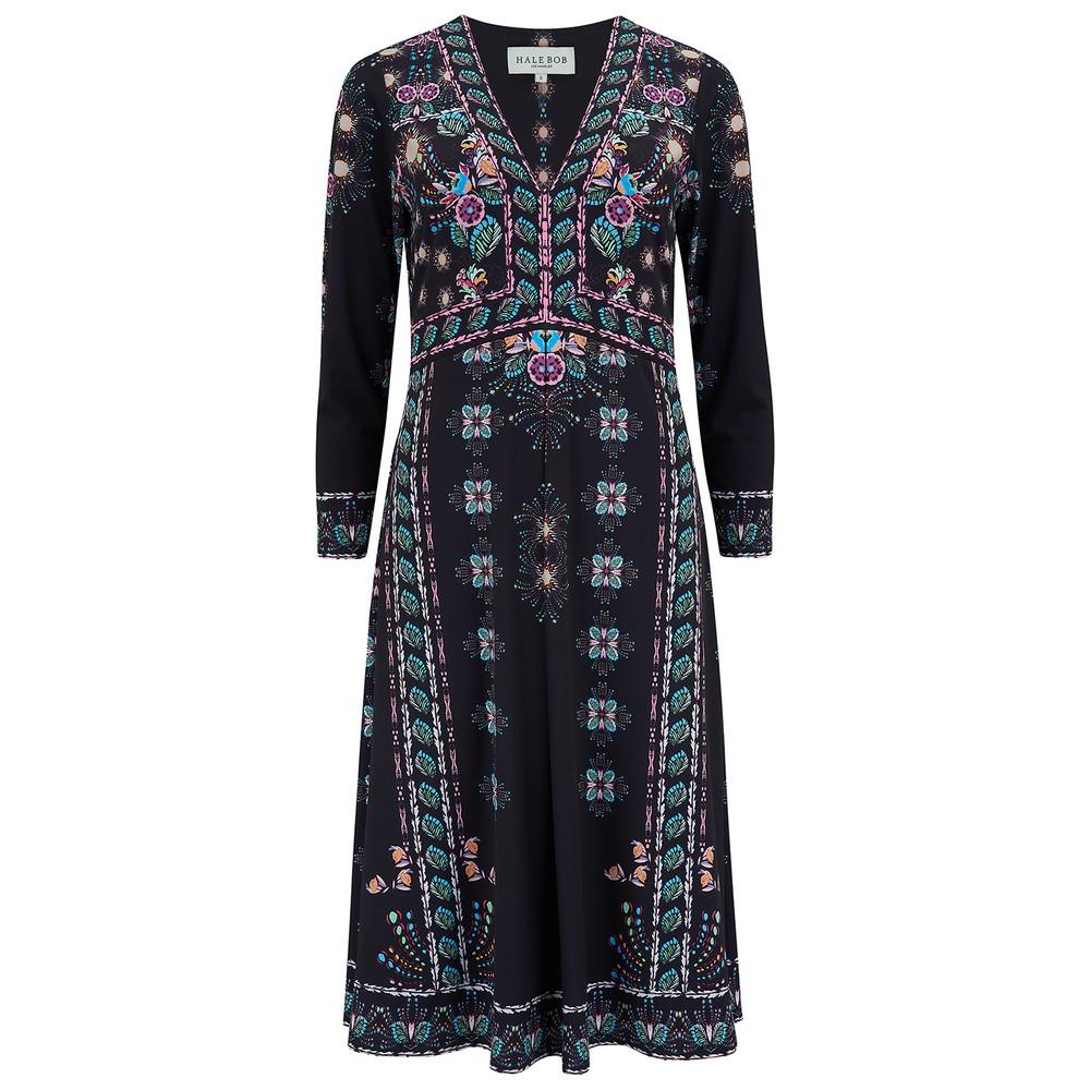 Floral Jersey Dress - Black