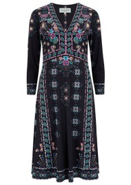 Hale Bob Floral Jersey Dress - Black