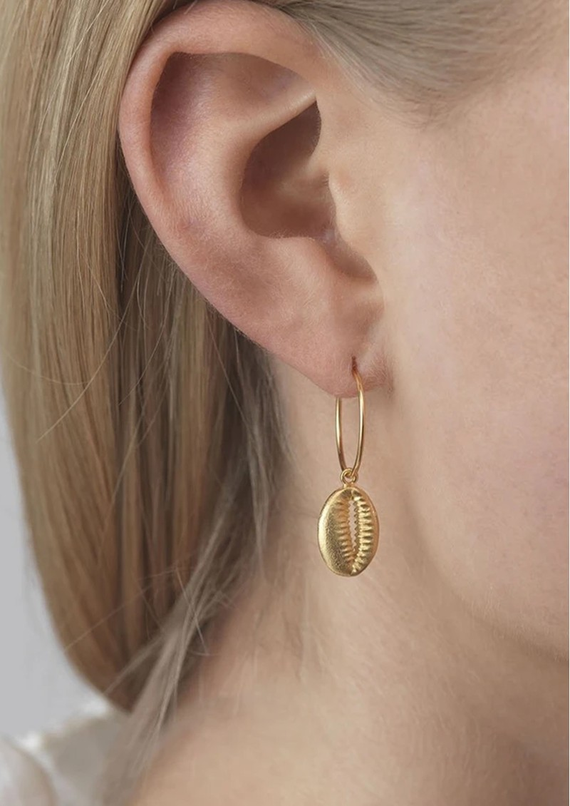 ANNI LU Cowry Shell Hoop Earrings - Gold main image