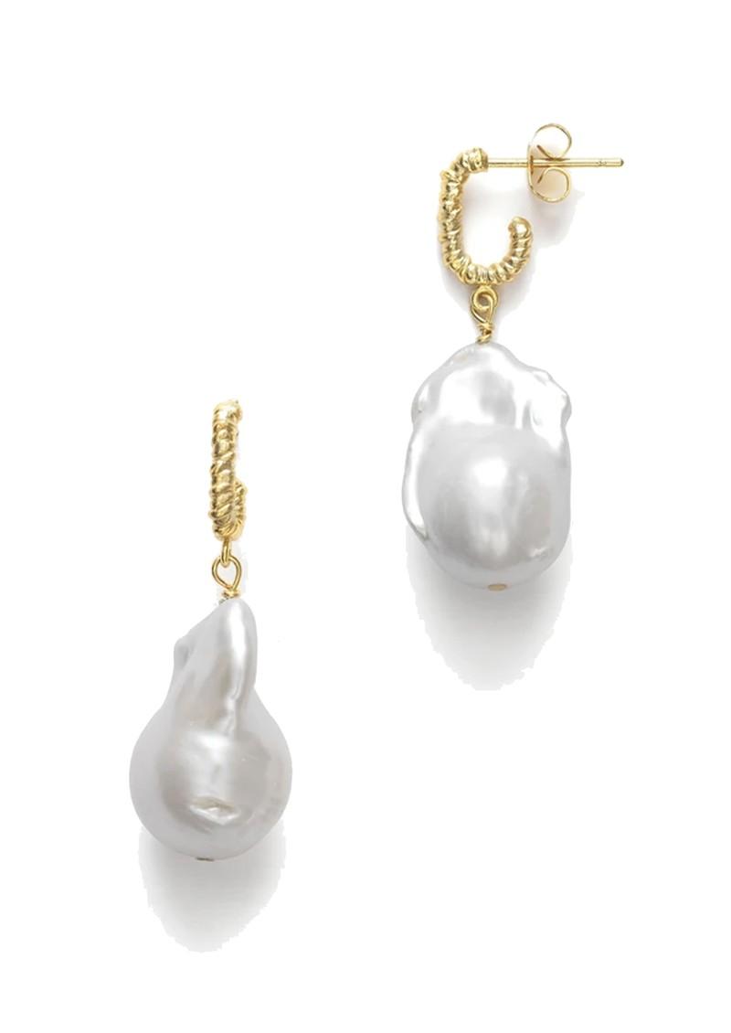 ANNI LU Seaweed Pearl Earrings - Gold main image