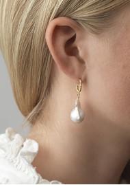ANNI LU Seaweed Pearl Earrings - Gold