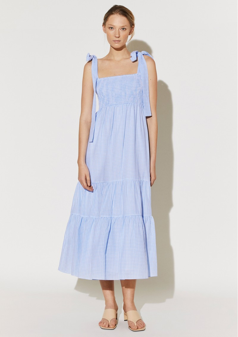 BY MALINA Eloise Dress - Blue Checker main image