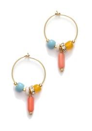 ANNI LU Sun Dance Hoop Earrings - Papaya Punch